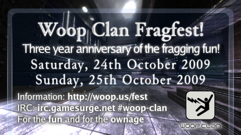 Woop Clan fragfest flyer!